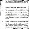 Detaljert arbeidsavtale (språk: engelsk)