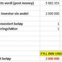 Verktøy for å beregne krav til avkastning ved investering (språk: norsk)