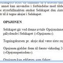Opsjonsavtale (språk: norsk)
